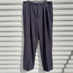 Bill Blass pleated dark navy dress pants